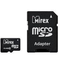 <b>Карта памяти</b> Mirex microSDHC <b>4Gb</b> Class 4 + адаптер (13613 ...