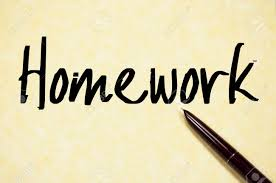 Homework Word Write On Paper Stock Photo Picture And Royalty Free