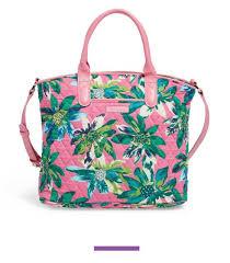 nwt vera bradley casual satchel tropical paradise shoulder bag purse handbag