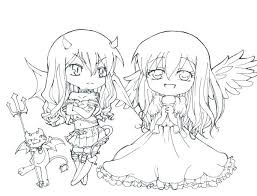 Coloring Pages Cute Anime Coloring Pages Casual Girl Color Cute