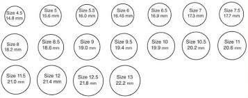 40 Factual Measure Ring Size Online Chart