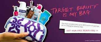 if you hurry over target is offering a free beauty bag with sles of various s