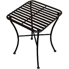 outdoor square black iron folding side table black iron outdoor furniture