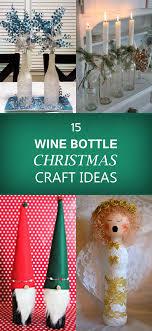 DIY PAINTED BOTTLE TREES Christmas Vase Candle Holder Wine Bottle Christmas Crafts