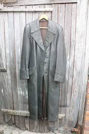 vintage mens leather trench coat with swing back bought in germany