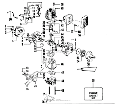 Poulan yp130a gas trimmer parts diagram for power unit