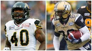 CFL veterans Eric Norwood, Clarence Denmark join Roughriders | CBC News
