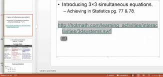 parallel planes equations. 3-way simultaneous equations video 2 - parallel planes