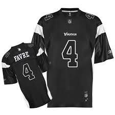 Reebok Throwback Jersey Size Chart 4 Authentic Brett Favre Black Shadow Reebok Nfl Mens Jersey