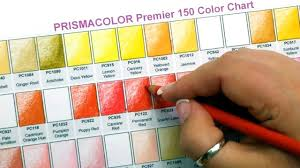 150 Prismacolor Pencils Chart Prismacolor Premier Colored Pencils 150 Color Swatches