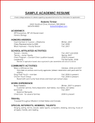 New Academic Cv Examples Science Mailing Format