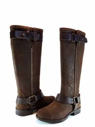 ugg australia dree dark chestnut brown leather knee high riding boot new size 6