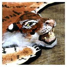 animal skin rug with head open house miniatures house tiger skin rug head animal skin rug