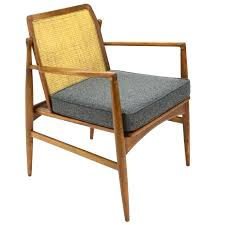 cane back armchair by kofod ln for selig at 1stdibs cane back chair cane chair repair linen and cane back chair