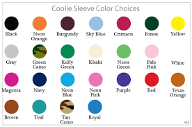 Wedding Koozie Color Chart Wedding Decor Reception Decor