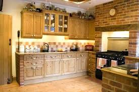 full size of cottage wall decorations brick decor and maple wooden cabinet for style kitchen ideas