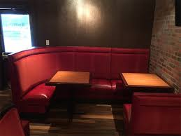 l shaped banquette restaurant booth