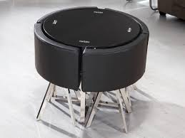 space saver dining table black