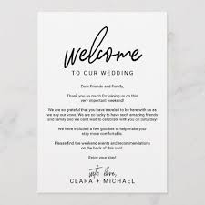 Whimsical Calligraphy Photo Wedding Welcome Letter Program | Zazzle.com