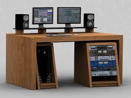 recording studio furniture oak mixing editing desk with tilted racks