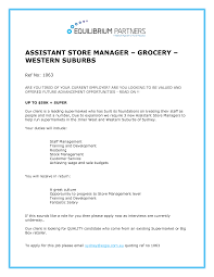 Store Manager Job Description Resume Grocery Store Manager Resume Example Examples of Resumes 64