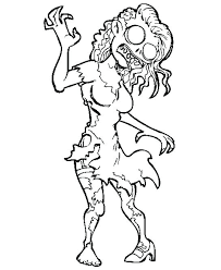scary zombie colouring pages coloring for s best images on books funny scary zombie coloring