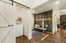 entryway office barn door. Contemporary Entryway With Hardwood Floors, TMS Nook Bench, High Ceiling, Classic 2- Office Barn Door N