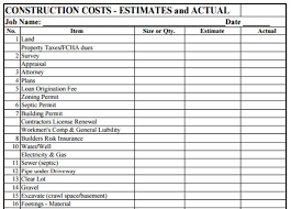 construction estimate sample download sample construction estimate pdf template for free
