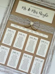 Wedding Plans Best A44 Kraft Framed Hessian Bow Design Wedding Table Plan Seating Plan