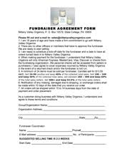 fundraising forms candle fundraising forms