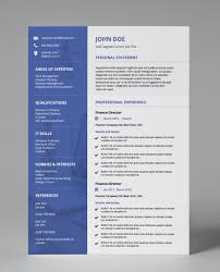 Blue Deep Modern Double Page Cv Resume In 2019 Modern Resume