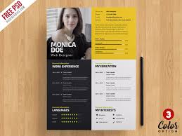 Creative Resume Template Psd Bundle Psdfreebies Com