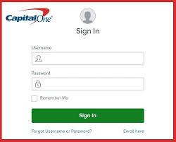 capital one bank login credit card