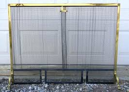 standing curtain fireplace curtain antique vintage brass steel free standing screen very good home garden mesh rod kit standing curtain fireplace screen