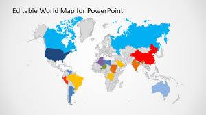 Map Of The World For Powerpoint Editable World Map Powerpoint Fieldstation Co Estarte Me