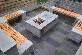 diy propane fire table concrete fire pit with bench and wood fence gas house propane table diy propane fire table
