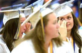 tears smiles help waynesboro area senior high school seniors waynesboro high school graduation 2015