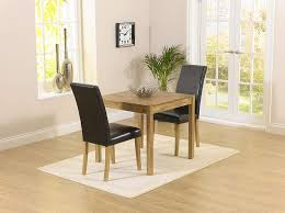 Montreal Solidwood Möbel 2 Esstisch Stuhl Set Mit Schwarz Atlanta