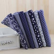 7pcs Navy blue fat quarters Cotton Quilting Fabric for DIY Sewing ... & 7pcs Navy blue fat quarters Cotton Quilting Fabric for DIY Sewing Patchwork  Bags Tilda Doll Cloth Adamdwight.com