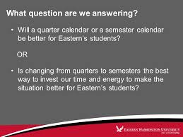 Calendar Quarters What Question Are We Answering Will A Quarter Calendar Or A