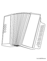 Music Accordion Coloring Pages For Kids