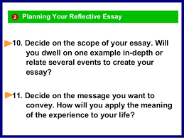 reflective essay in an online class 2 12 planning your reflective essay