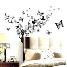 vinyl butterfly wall decals new butterfly flower removable home wall  sticker art vinyl wall decals