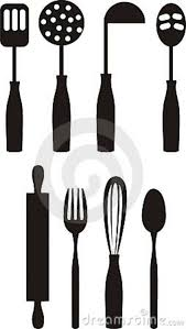 kitchen utensils silhouette vector free. Exellent Vector Free Printable Kitchen Clip Art  Utensils Royalty  Stock  Cooking  On Silhouette Vector U