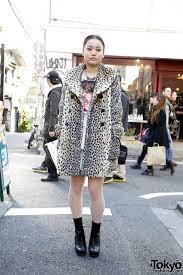 faux fur coat david bowie top from zara in harajuku