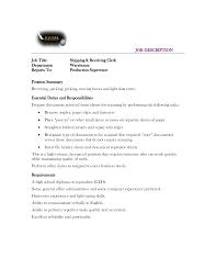 shipping receiving clerk job description resume template  shipping receiving clerk job description warehouse manager resume examples
