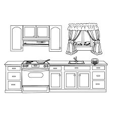 Small Picture coloring pages kitchen Realistic Coloring Pages