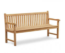 york teak garden bench flat pack 1 8m