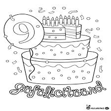 Gelukkige Verjaardag Kleurplaten Nieuw Kleurplaten Verjaardag 9 Jaar