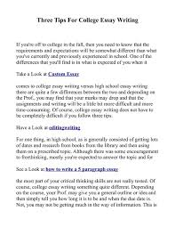 essays about college tips for writing a good college essay under fontanacountryinn com